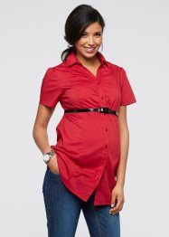 Zwangerschapsblouse+ceintuur, bpc bonprix collection, rood