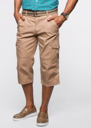 3/4-broek+riem loose fit, bpc bonprix collection, camel