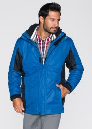 3in1-outdoorjack, bpc bonprix collection, blauw/antraciet