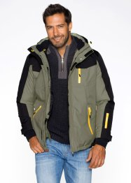 Functioneel winterjack, bpc bonprix collection, olijfgroen/zwart