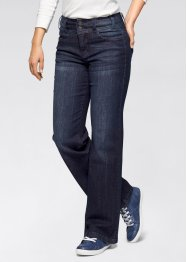 Stretchjeans «WIDE», John Baner JEANSWEAR, donkerblauw