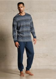 Pyjama, bpc bonprix collection, donkerblauw gestreept