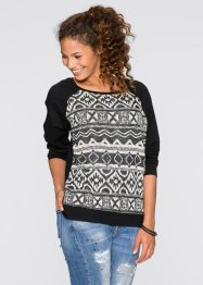Sweatshirt, RAINBOW, zwart gedessineerd
