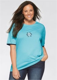 Longshirt, bpc bonprix collection, aqua/zwart