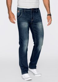 Stretchjeans regular fit straight, John Baner JEANSWEAR, middenblauw used