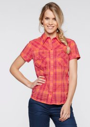 Blouse, bpc bonprix collection, framboise/oranje