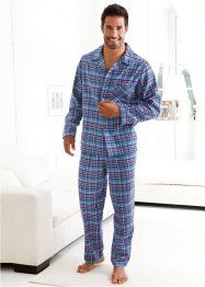 Flanellen pyjama, bpc bonprix collection, blauw geruit