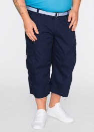 3/4-broek+riem loose fit, bpc bonprix collection, donkerblauw