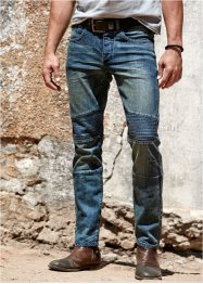Stretchjeans slim fit straight, RAINBOW, blue used
