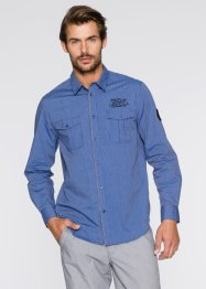 Overhemd, bpc bonprix collection, gentiaanblauw gestreept