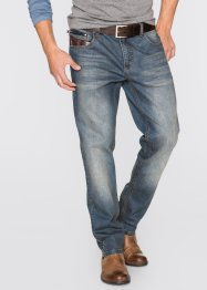 Jeans regular fit straight, John Baner JEANSWEAR, blauw dirty used
