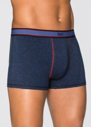 Boxershort (set van 3), bpc bonprix collection, donkerblauw gemêleerd