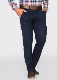 Cargobroek regular fit straight, bpc selection, donkerblauw gemêleerd