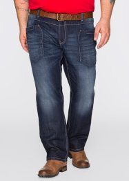 Jeans regular fit straight, John Baner JEANSWEAR, donkerblauw