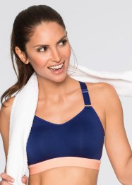 Sportbeha level 2, bpc bonprix collection, blauw/melba