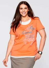 2in1-shirt, bpc bonprix collection, nectarine