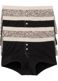 Boxershort (set van 4), bpc selection, gedessineerd/zwart