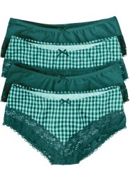 Hipster (set van 4), bpc bonprix collection, pastelmint/petrol