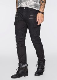 Jeans slim fit straight, RAINBOW, black denim