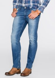 Stretchjeans slim fit straight, John Baner JEANSWEAR, blauw