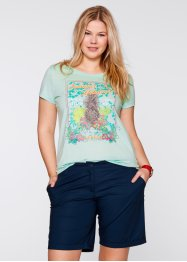 T-shirt, bpc bonprix collection, donkerblauw met print