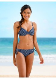 Beugelbikini (2-dlg. set), bpc bonprix collection, donkerblauw/wit