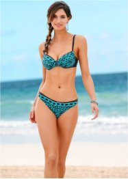 Beugelbikini (2-dlg. set), bpc selection, zwart/turkoois
