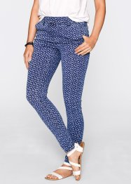 Leggings, bpc bonprix collection, blue stone/wit gedessineerd