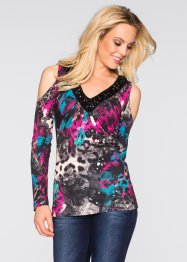 Shirt, BODYFLIRT boutique, blauw gedessineerd