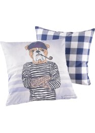 Kussenhoes «Sailor» (2-dlg. set), bpc living, wit/blauw
