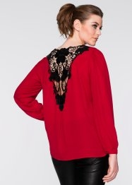 Blouse, BODYFLIRT boutique, donkerrood/zwart