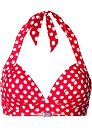 Push-up bikinitop, bpc bonprix collection, rood/wit gestippeld