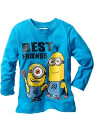 Longsleeve «Minions», Despicable Me 2, middenturkoois Minions