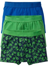 Boxershort (set van 3), bpc bonprix collection, meigroen/blauw