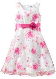 Jurk, bpc bonprix collection, wit/pink