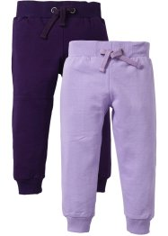 Sweatbroek (set van 2), bpc bonprix collection, lila+donkerpaars