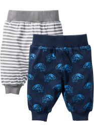 Shirtbroek (set van 2), bpc bonprix collection, donkerblauw/wit/grijs