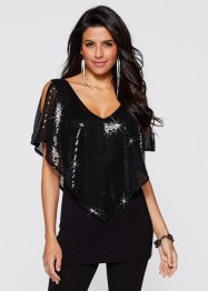 Shirt, BODYFLIRT boutique, zwart