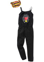 Jumpsuit+haarlint (2-dlg. set), bpc bonprix collection, zwart