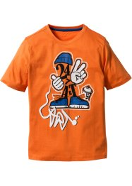 Shirt, bpc bonprix collection, oranje met print
