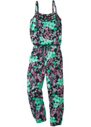 Jumpsuit, bpc bonprix collection, zwart gebloemd