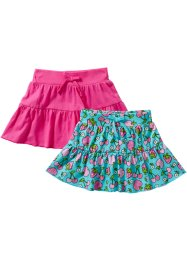 Rok (set van 2), bpc bonprix collection, aqua vruchten+pink