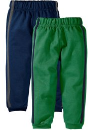 Joggingbroek (set van 2), bpc bonprix collection, donkerblauw+groen