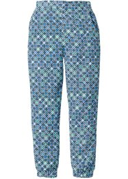 Broek loose fit, bpc bonprix collection, wit/gletsjerblauw gedessineerd