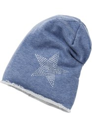 Beanie, bpc bonprix collection, jeansblauw