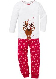 Pyjama (2-dlg.), bpc bonprix collection, wit/rood