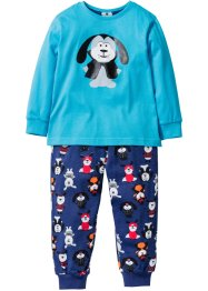 Pyjama (2-dlg. set), bpc bonprix collection, turkoois/middernachtblauw