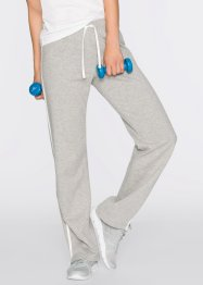 Joggingbroek (set van 2), bpc bonprix collection, zwart/lichtgrijs gemêleerd