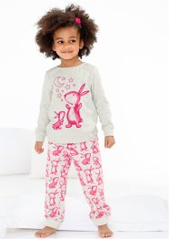 Pyjama (2-dlg.), bpc bonprix collection, ecru gemêleerd/pink