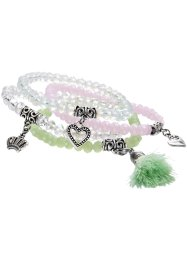 Armbanden (set van 4), bpc bonprix collection, mint/roze